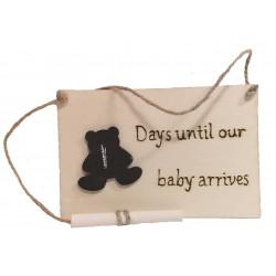 Baby Countdown  Plaque & Chalk