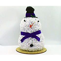 Tatty Snow Man - Purple