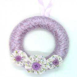 12cm Wool Wreath - Purple