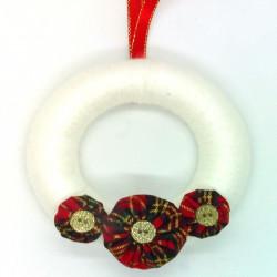 12cm Christmas White Wool...