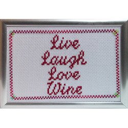 Framed Cross stitch - Live...