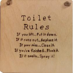 Toilet Rules Plaque