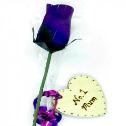 """Wooden Rose - Violet - """"No..."""