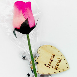 Wooden Rose - Pink -...