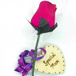 Wooden Rose - Hot Pink -...
