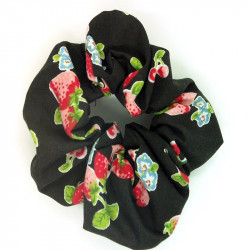 Black Strawberry Scrunchie