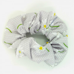 Lilac Daisy Scrunchie