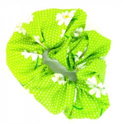 Green Daisy Scrunchie