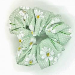 Mint Daisy Scrunchie