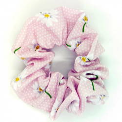 Pink Daisy Scrunchie