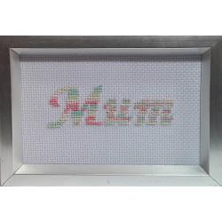 6x4 Framed Cross stitch - Mum