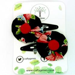 Black Strawberry Hair Clips