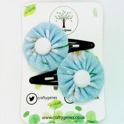 Blue Daisy Hair Clips