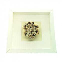 Brown & Cream Flower Framed...