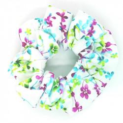 White Floral Hair Scrunchie