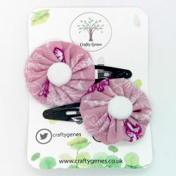 Purple Butterfly Hair Clips