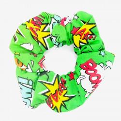 Green Comic Hair Scrunchie