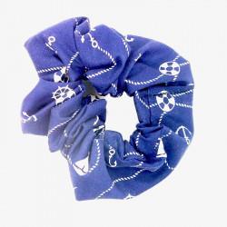 Navy Nautical Hair Scrunchie
