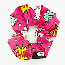 Pink Comic - Hair Scrunchie