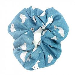 Teal Seal- Hair Scrunchie