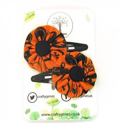 Halloween Orange Hair Clips