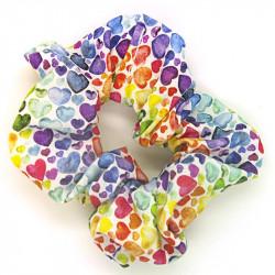 Rainbow Heart - Hair Scrunchie