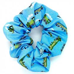 Blue Train - Hair Scrunchie