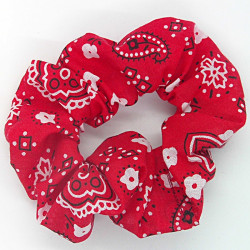 Red Paisley - Hair Scrunchie