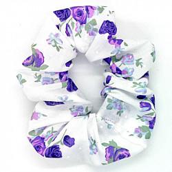 White & Purple Floral -...