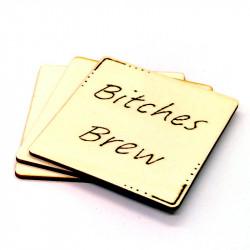 Wooden Coaster - Bitches Brew