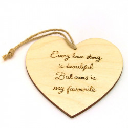 """Heart Plaque - """"Every Love..."""