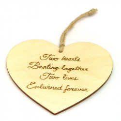 """Heart Plaque - """"Two Hearts"""""""