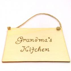 Grandmas Kitchen Plaque