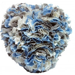 Fabric Heart- Blue, Cream,...