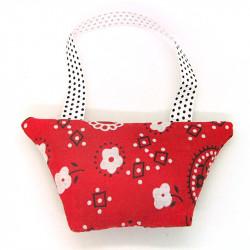 Lavender Handbag - Red Paisley