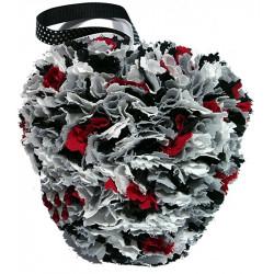 Fabric Heart - Black,...
