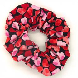 Black Heart Scrunchie
