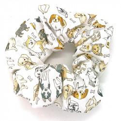 White Dog Scrunchie
