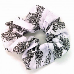 White Angel Wings Scrunchie