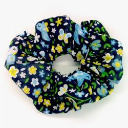 Blue Birds Scrunchie