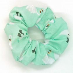 Mint Swan Scrunchie