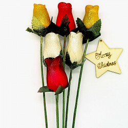 Christmas Wooden Rose...