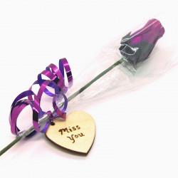 "Wooden Rose - Purple ""Miss..."