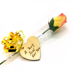 Wooden Rose - Yellow and...