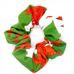 Welsh Flag Scrunchie