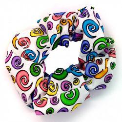 White Swirls Scrunchie