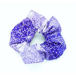 Purple Ombre Floral Scrunchie