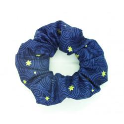 Navy Stars Christmas Scrunchie