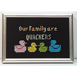 Framed Cross stitch - Our...