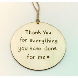 Thank You - Teacher Plaque